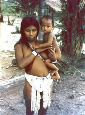 Piaroa Woman and Her Son Ronny Velâsquez and Nilo Ortiz photo