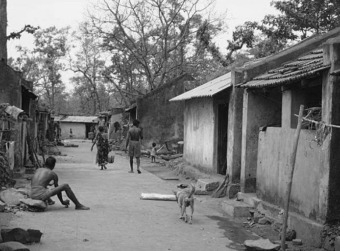 The Kendumundi resettlement colony consisting of pukka houses