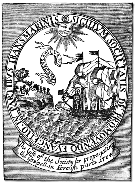 The seal of the Society for the Propagation of the Gospel in Foreign Parts