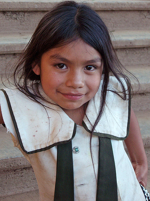 A girl from the Sierra Juárez region