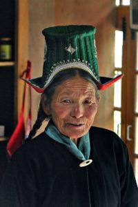 ladakhi woman in traditional dress