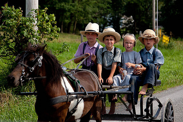 In rural Holmes County, Ohio, some Amish kids are still too young to party with the teenagers