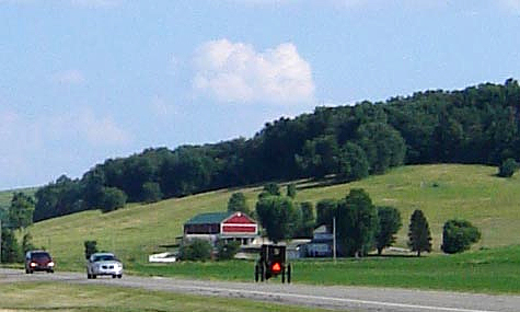 Bucolic Ohio Amish country