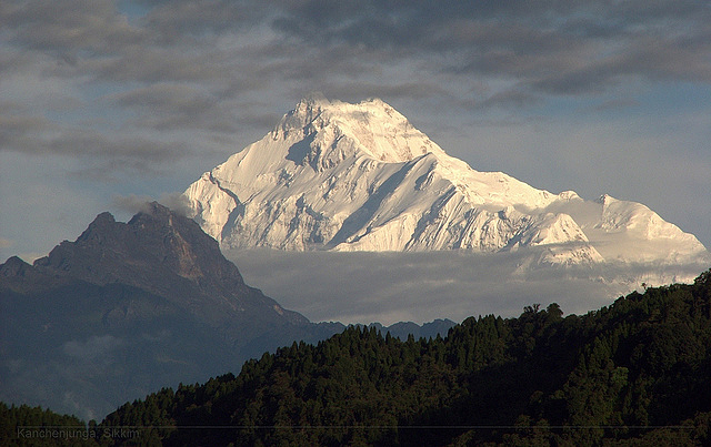 View of Kanchenjunga from the Gangtok area of Sikkim