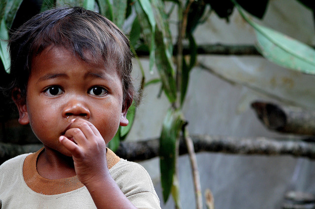 An Orang Asli child in the Cameron Highlands