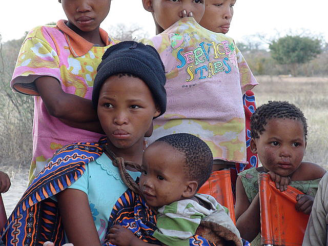 The children in a small San community in Namibia
