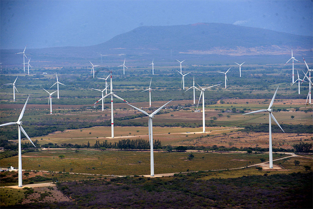 A large wind plant on the Isthmus of Tehuantepec