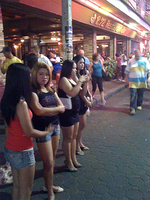 Sex workers. Sex workers in Pattaya, Thailand
