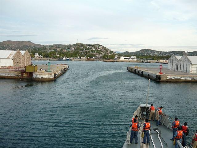 Entrance to the port of Salina Cruz, Mexico