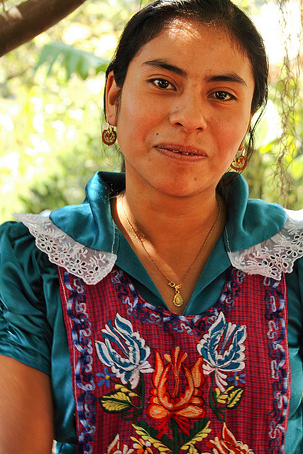 A Zapotec woman from the Oaxaca Valley