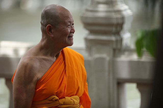 Luang Por Dattajivo, a prominent Thai Buddhist monk (Photo by Honey Kochphon Onshawee in the Wikipedia, Creative Commons license)