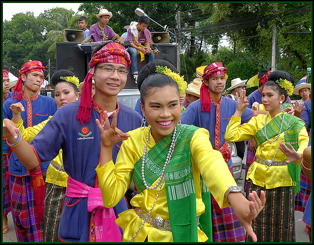 Rural Thai celebrate Khao Phansa Day, the Candle Festival, in Isan, probably in the town of Kalasin