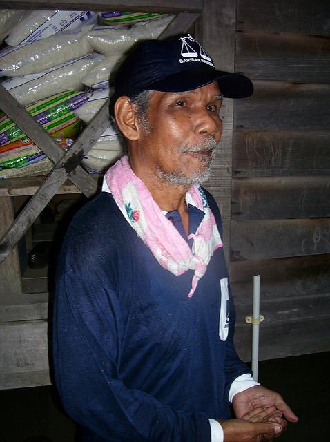 A Semai man in Kampung Asli Rening, in the Cameron Highlands