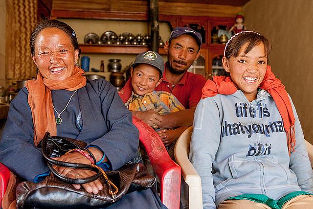 A family in Ladakh