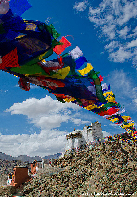 Prayer flags symbolize many different things to the Ladakhi