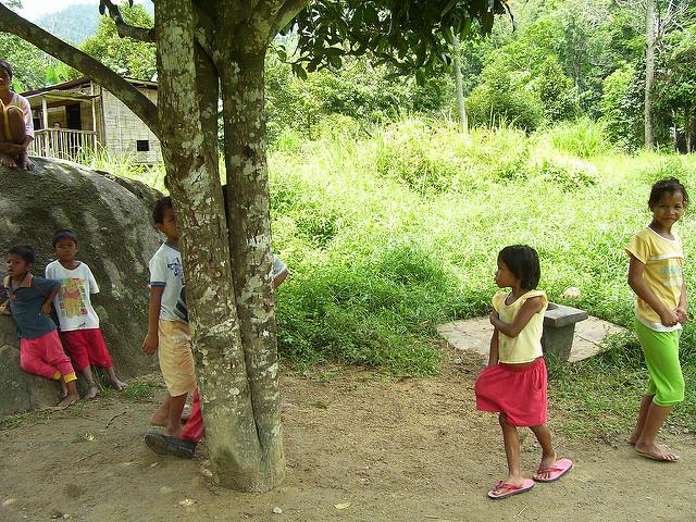Semai children in a community in the Cameron Highlands