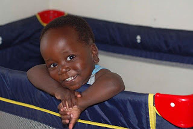 A two year old boy from Sumbawanga
