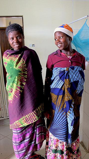 Two Sumbawanga women in the regional hospital