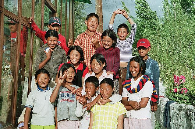 The SOS-Children's Village in Choglamsar, a suburb of Leh, Ladakh