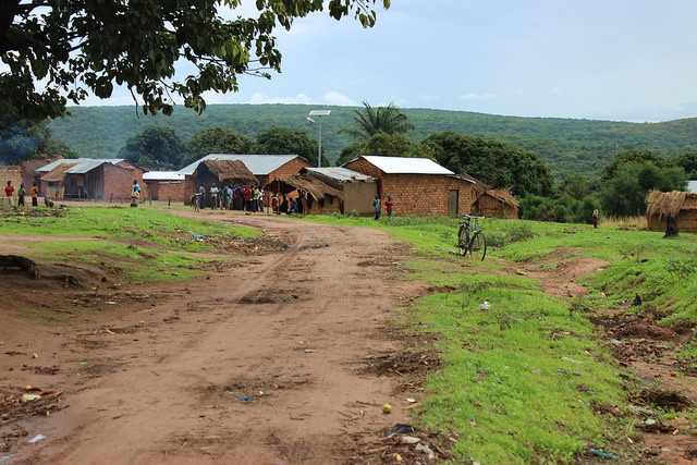Approaching the Mtowisa Health Center, near Lake Rukwa, by road
