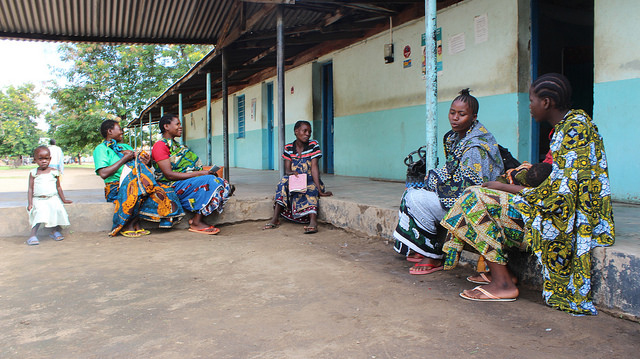 Women waiting at the Mtowisa Health Center