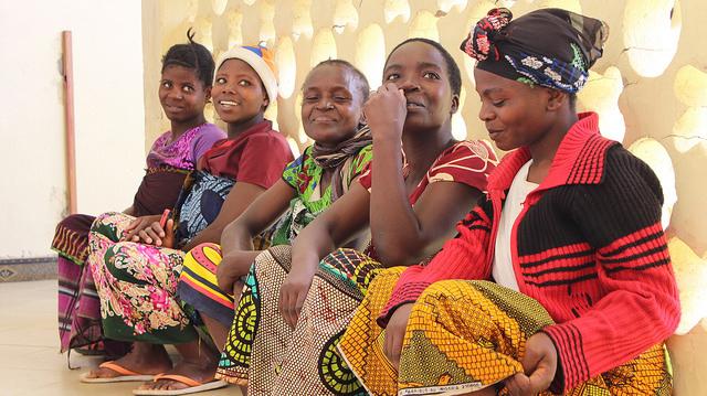 Five young Tanzanian women in the Sumbawanga Regional Hospital