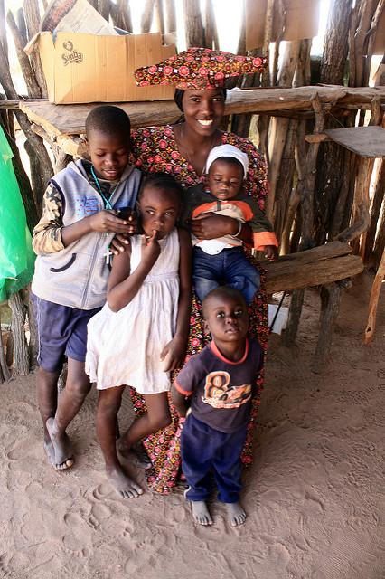 A Herero family in Namibia