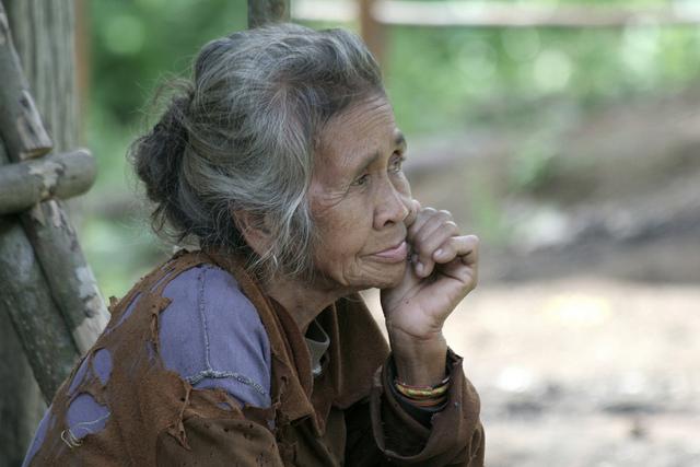 An elderly Orang Asli woman in Gopeng