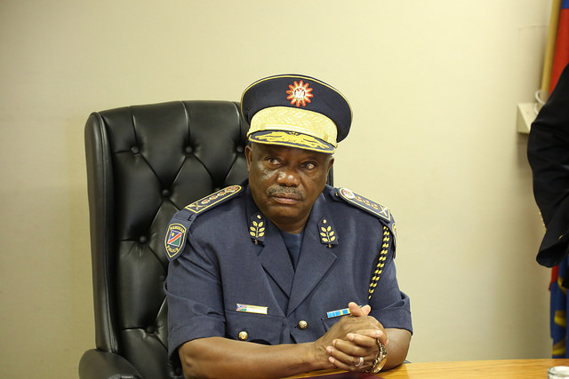 Sebastian Ndeitunga, the Inspector General of the Namibia Police Force