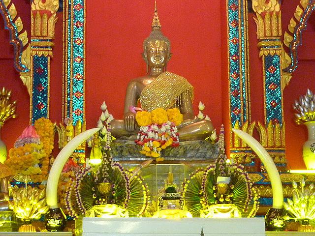 The Wat Pho Chai in Nong Khai, Thailand