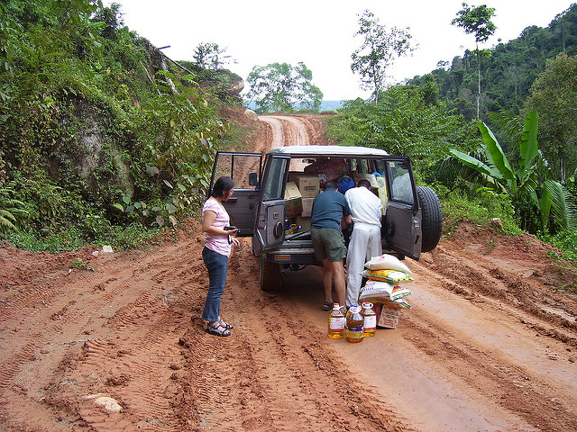 A road into the Semai village of Rening in the Cameron Highlands