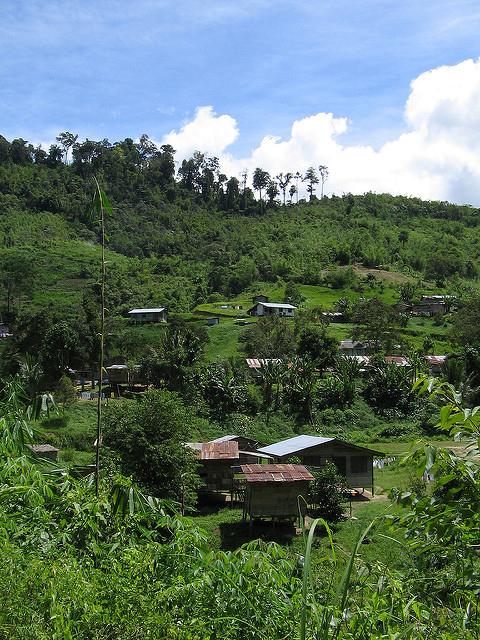 An Orang Asli village in the Cameron Highlands