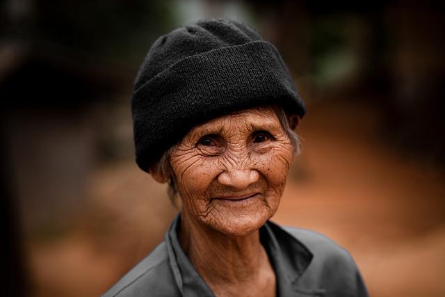 An elderly Thai lady near Chiang Rai, Thailand