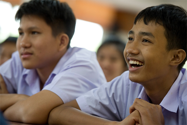Students at the Pittyakom School in Nakhon Ratchasima