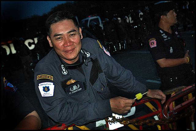 The commander of the Bangkok police department, Major-General Chakthip Kunchorn na Ayuthaya, in June 2008