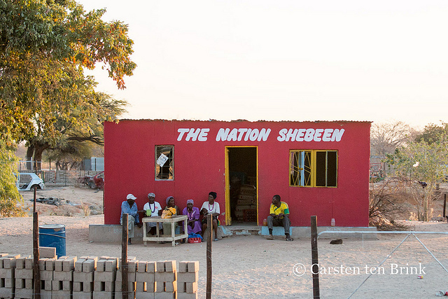 A shebeen in Namibia