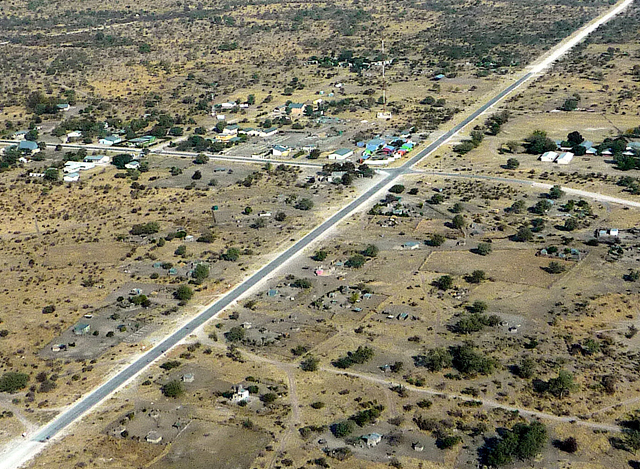 An aerial view of part of Tsumkwe in 2008