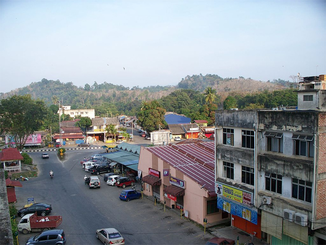 A view of the town of Gua Musang