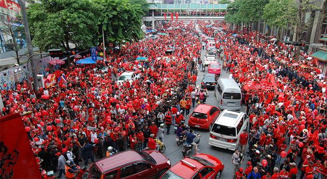 Redshirt political protest in Bangkok, September 2010