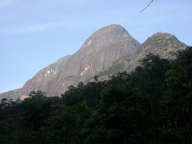 A towering crest of the Anamalai Hills in southwestern Tamil Nadu
