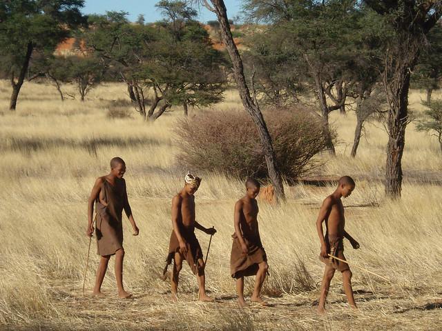 A group of Ju/'hoansi near Tsumkwe