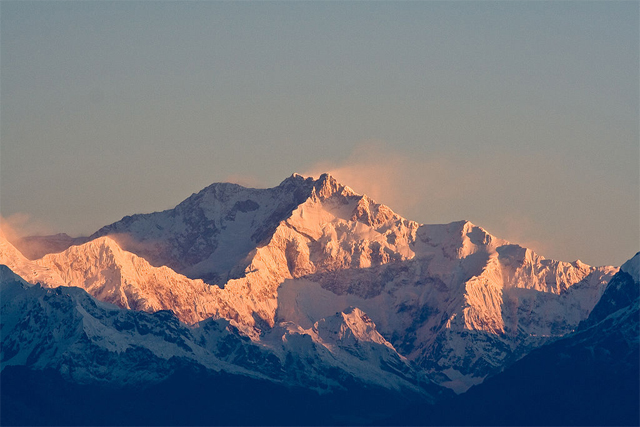 Mt. Kanchenjunga in the morning sunlight