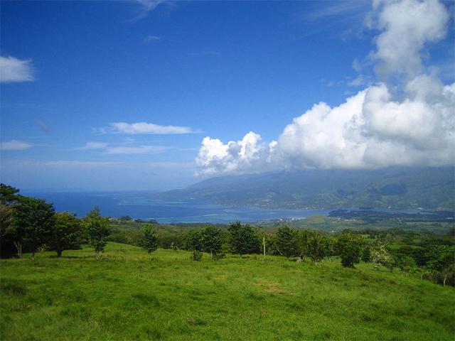 View of Taravao on the coast of Tahiti