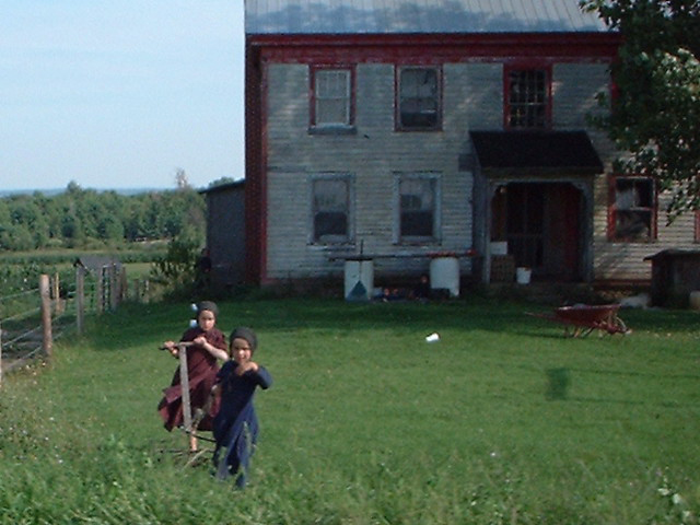Amish kids, Morristown, St. Lawrence County, New York