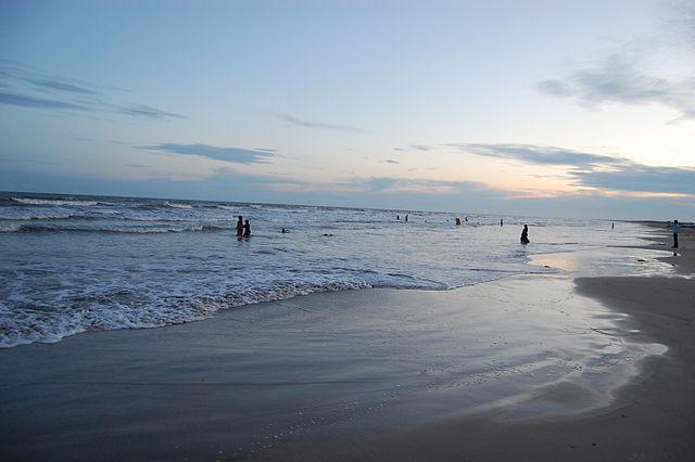 Manginapudi Beach at Machilipatnam, India