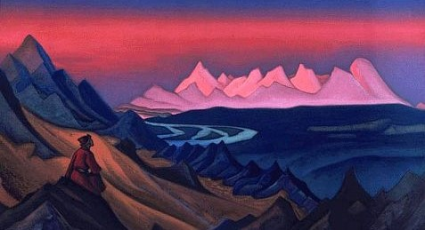 Nicholas Roerich painting of the Himalayas