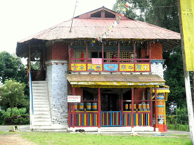 The front entrance of the Rinchenpong Monastery