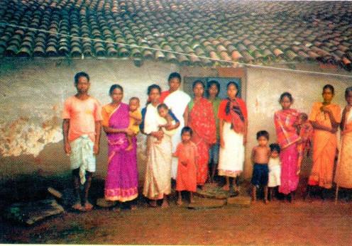 Birhor village residents