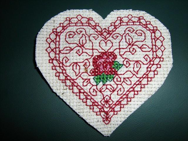 A stitched valentine