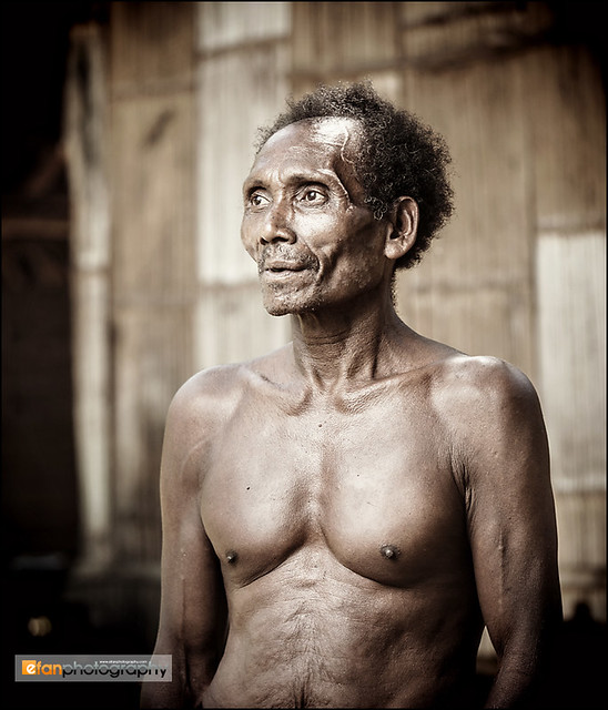 An elderly Batek man
